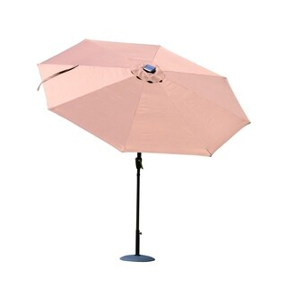 Outsunny 9' Solar LED Market Patio Umbrella w/Bluetooth