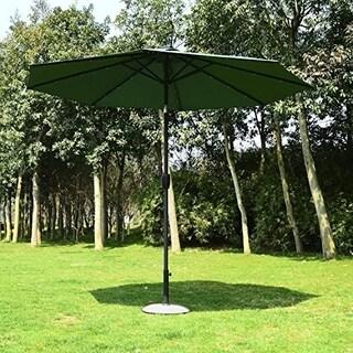 Outsunny 9' Solar Multi-Color LED Market Patio Umbrella