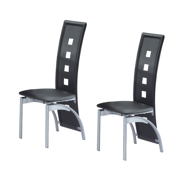 Best Quality Furniture Modern Faux Leather Metal Dining Chair (Set of 2)