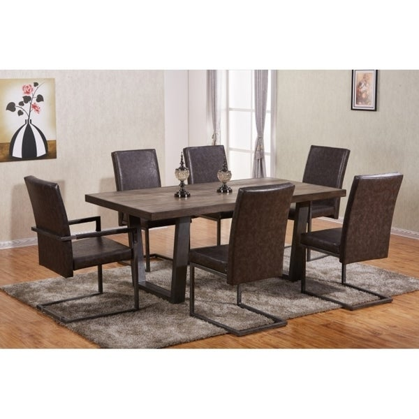 Best Quality Furniture Modern Brown 7 Piece Dining Set Free Shipping Today 17965401