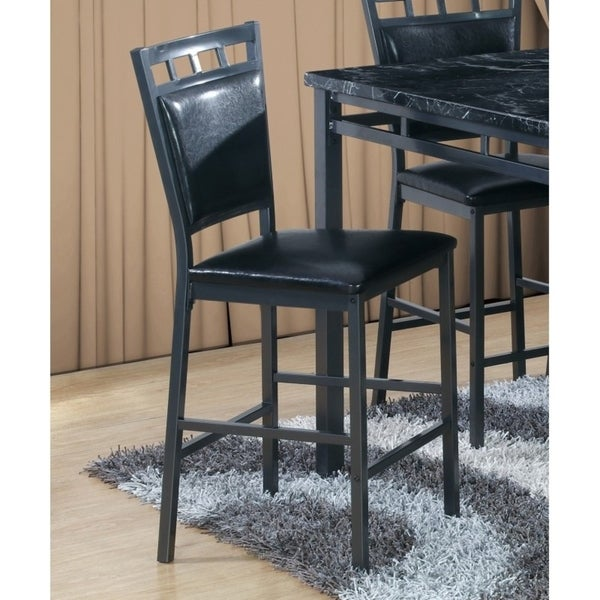 Dining Chair Sets Of 6: Shop Best Quality Furniture Black Faux Leather Upholstered