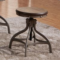 Best Quality Furniture Rustic Bronze Adjustable Height Stool (Set of 2)