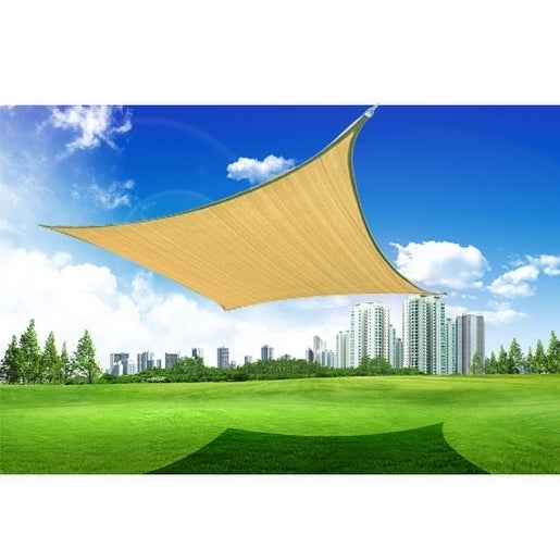 Shop Outsunny 24 Square Outdoor Patio Sun Shade Sail Canopy Free