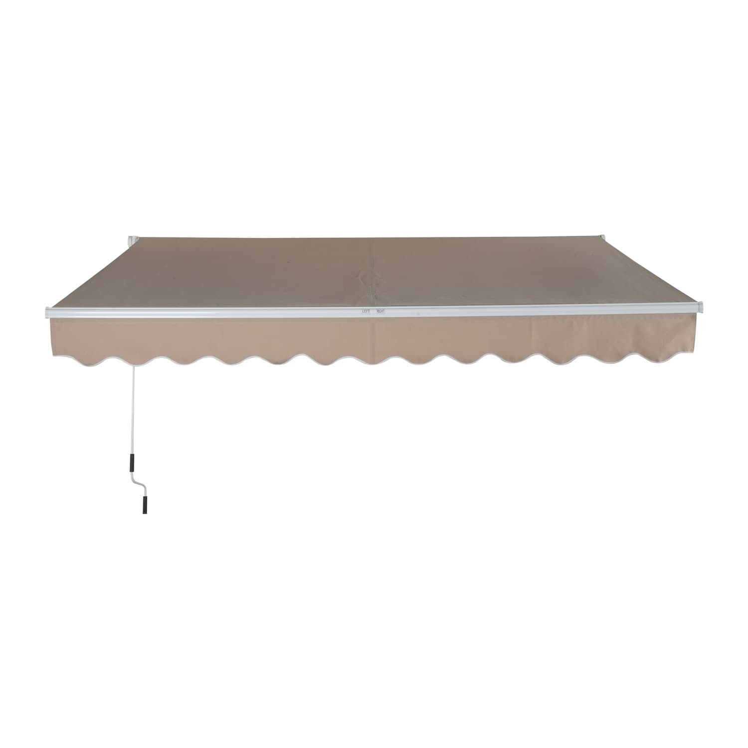 "Outsunny 116"" Manual Retractable Patio Sun Shade Awning, ..."