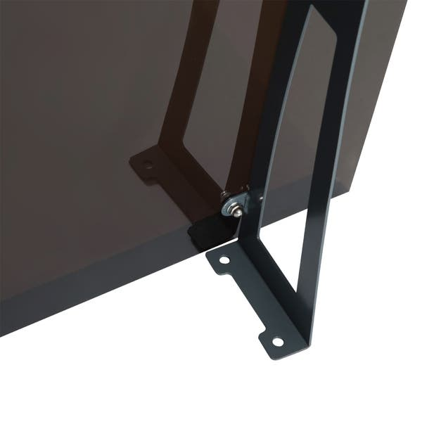Shop Outsunny 40 X 40 Acrylic Glass Exterior Door Awning Overstock 17965434