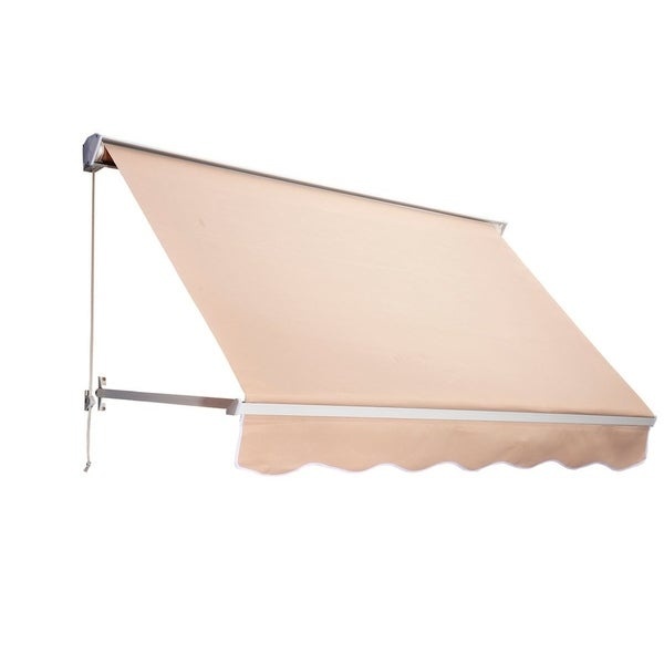 Outsunny 6' Drop Arm Manual Retractable Window Awning
