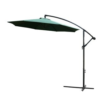 Outsunny 10' Steel Hanging Offset Patio Umbrella with Stand