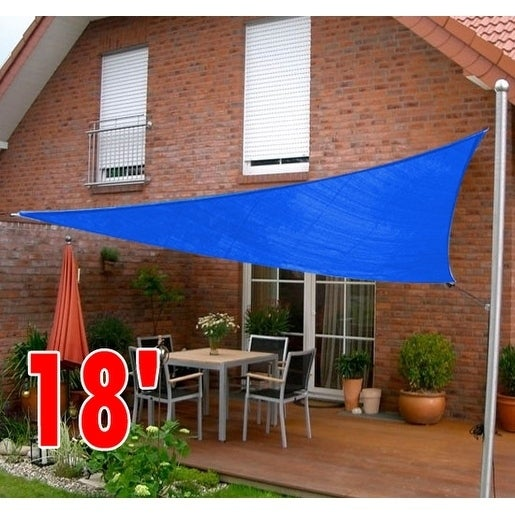 Outsunny 18 X27 Triangle Outdoor Patio Sun Shade Sail Canopy