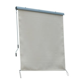 Outsunny 6' x 6' Outdoor Pull Down Roller Sun Shade