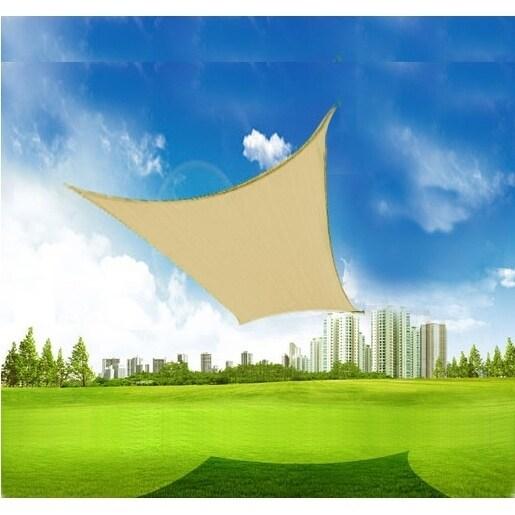 Shop Outsunny 20 X 16 Rectangle Outdoor Patio Sun Shade Sail
