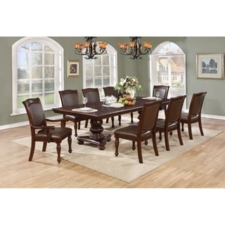 Best Quality Furniture 7-piece Cherry Dining Set