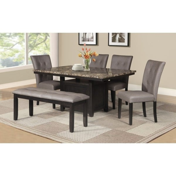Best Quality Dining Room Furniture: Shop Best Quality Furniture Faux Marble Table Top Dining