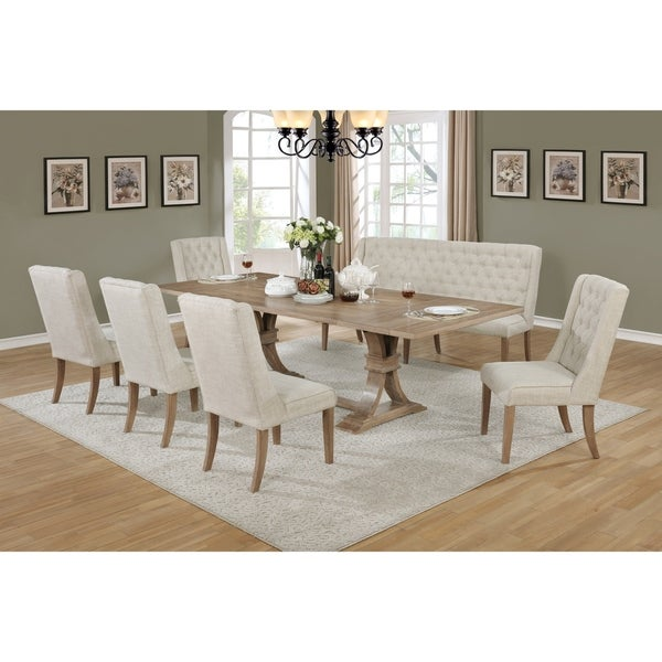 Best Quality Furniture Rustic Extension Dining Set. Opens flyout.