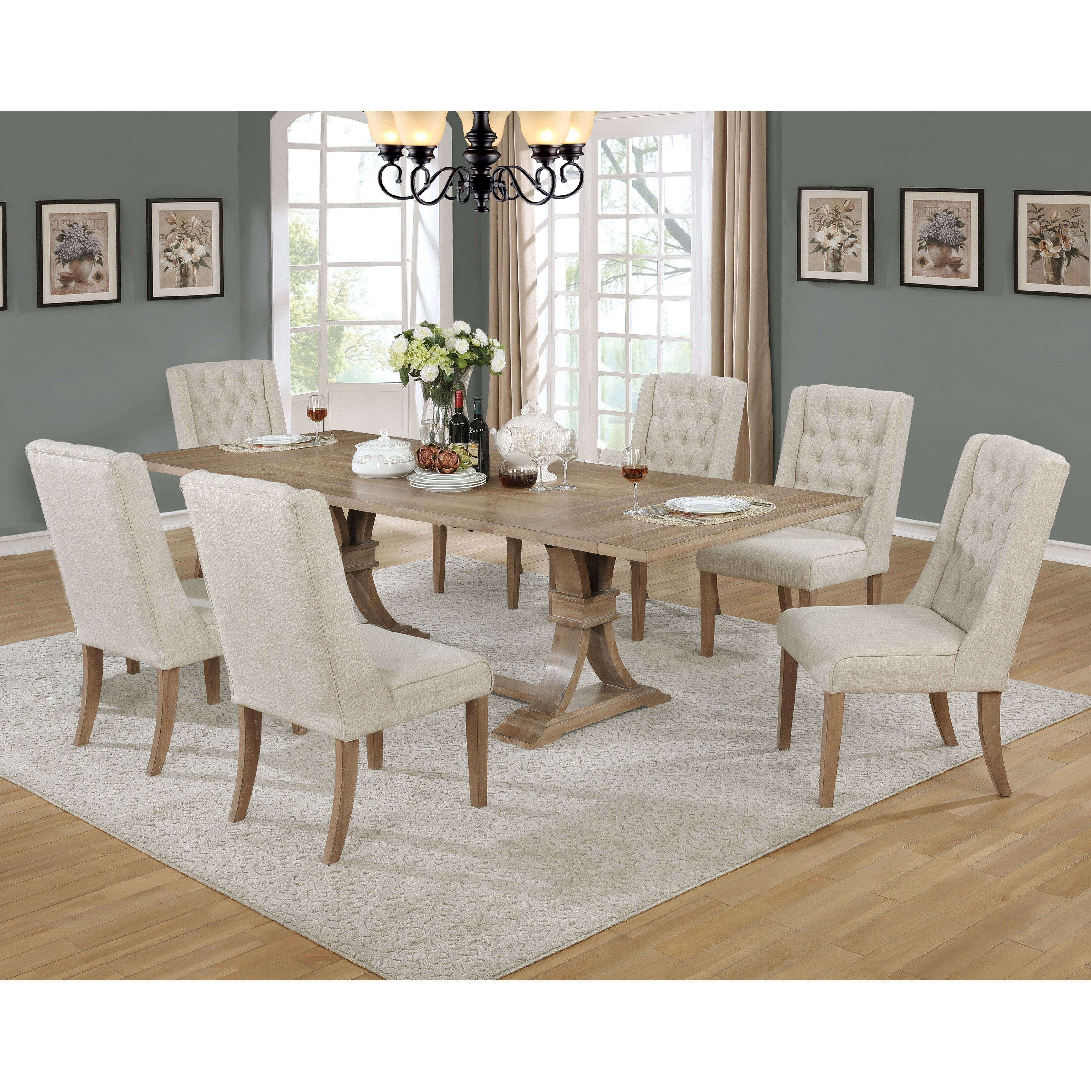 Best Quality Furniture Rustic Extension Dining Set