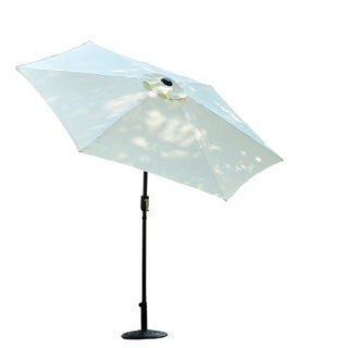 Outsunny 9' Outdoor Aluminum Patio Shade Market Umbrella With Tilt