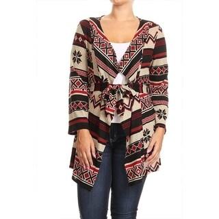 Women's Plus Size Fair Isle Pattern Cardigan