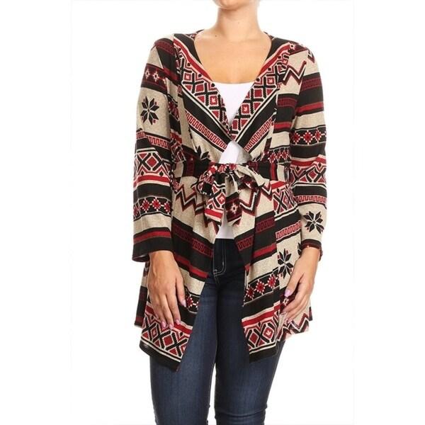 Women's Plus Size Fair Isle Pattern Cardigan - Free Shipping On ...