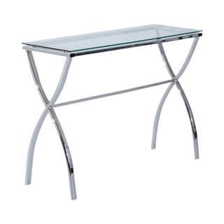 HomCom Modern Glass Console Table