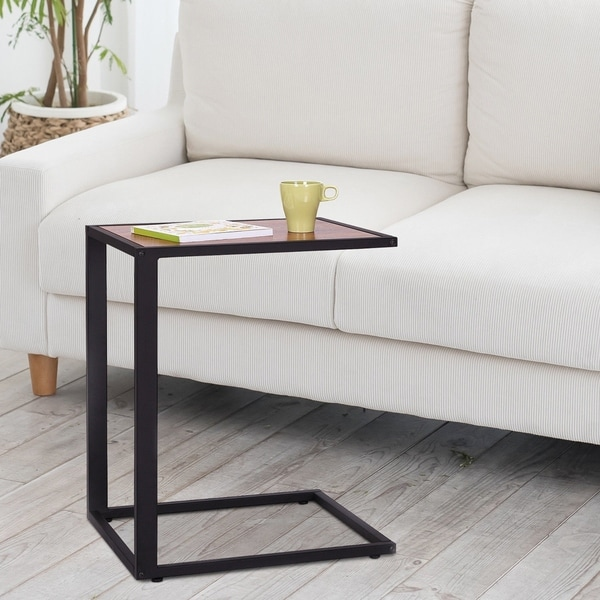 """26"""" Rustic Industrial Laptop TV Tray Accent End Side Table"""