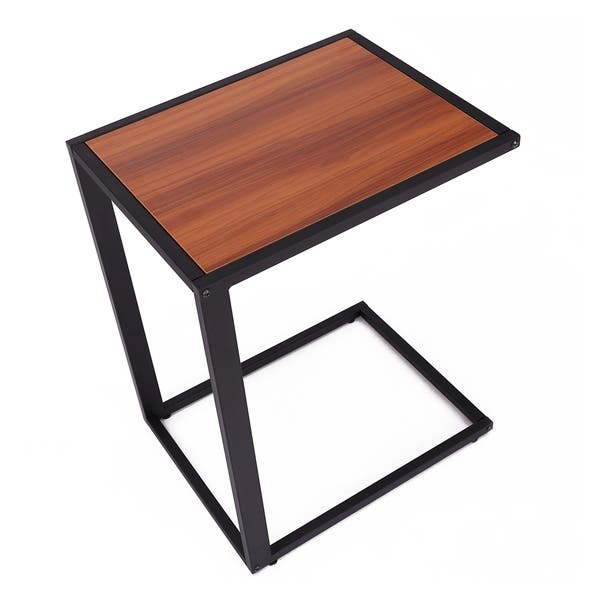 Excellent Shop Homcom 26 Rustic Industrial Laptop Tv Tray Accent End Machost Co Dining Chair Design Ideas Machostcouk