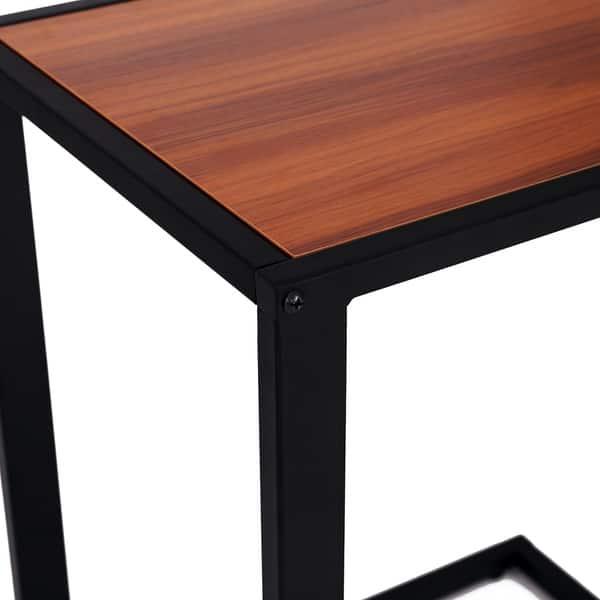 Magnificent Shop Homcom 26 Rustic Industrial Laptop Tv Tray Accent End Machost Co Dining Chair Design Ideas Machostcouk