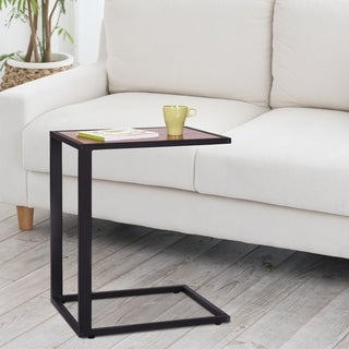 HomCom Modern Wooden Top End / Snack C Table