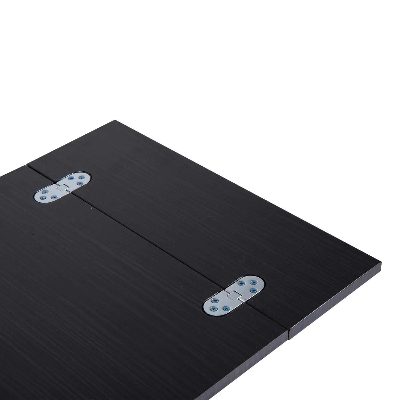 HomCom Walnut Wood Metal Expanding Tray Side Table, Brown