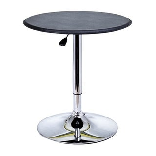 HomCom Modern Pub Style Adjustable Vinyl Covered Bar Table w/ 360 Swivel
