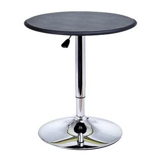 HomCom Modern Pub Style Adjustable Vinyl Covered Bar Table w/ 360 Swivel