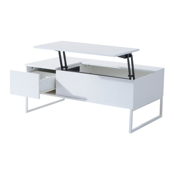 Shop Homcom 43 Modern Lift Top Coffee Table Free Shipping Today