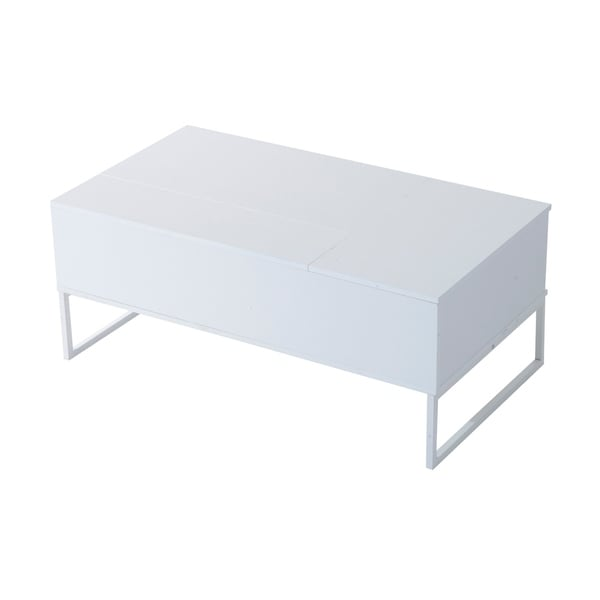 HomCom White 43inch Modern Lifttop Coffee Table Free Shipping