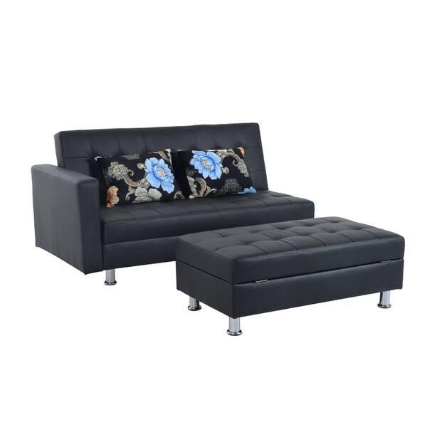 Cool Shop Homcom Faux Leather Convertible Sofa Sleeper Bed W Customarchery Wood Chair Design Ideas Customarcherynet
