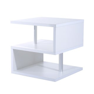 HomCom Modern Contemporary Multi Level S-Shaped End Table