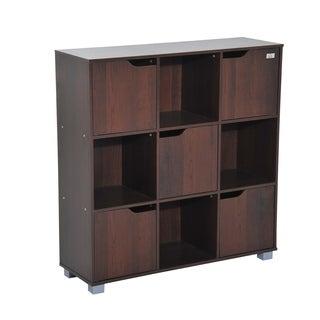 HomCom 9-cube Bookcase Storage Shelf Organizer