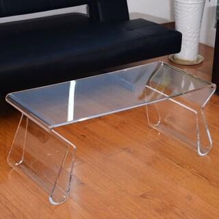 HomCom Clear Acrylic 38-inch Coffee Table