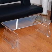 "HomCom 38"" Modern Acrylic Coffee Table"