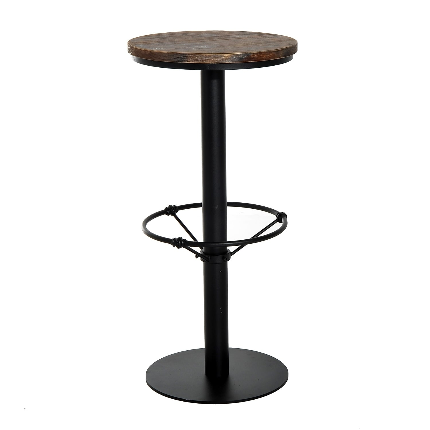 Prime Homcom Round Industrial Metal Wood Top Bar Height Pub Table Machost Co Dining Chair Design Ideas Machostcouk