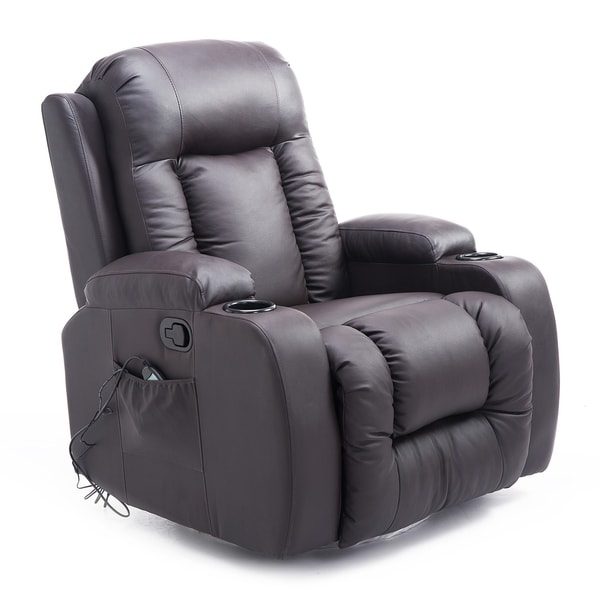 Charmant Homcom PU Leather Heated Vibrating Massage Recliner Chair With Remote