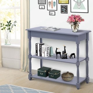 "HomCom 40"" Pine Wood Entryway Console Table"