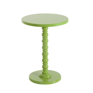 HomCom Green Wood 17-inch Round Spindle Table