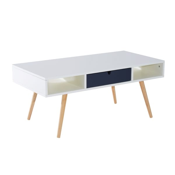 Shop Homcom 40 Mid Century Modern Coffee Table Ships To Canada