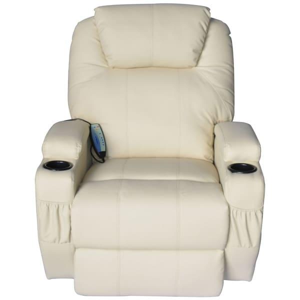 Shop Homcom Luxury Faux Leather Heated Vibrating Massage Recliner