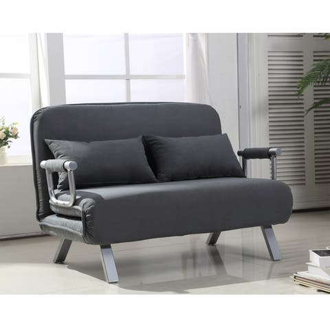 2-Seater Sofa Chair 5 Position Convertible Sleeper Bed