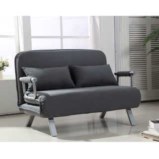 HomCom Grey Suede Fabric Lounge Sofa Chair