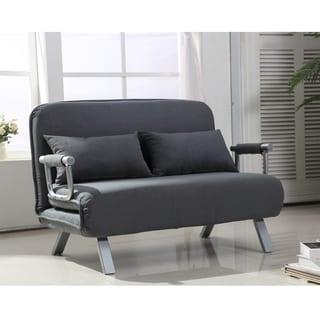 Great HomCom Grey Suede Fabric Lounge Sofa Chair