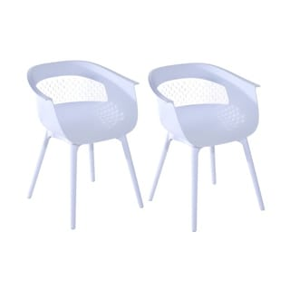 HomCom Mid-century Modern Molded Plastic 30-inch Armchairs (Set of 2)