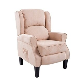 HomCom Heated Vibrating Suede Massage Recliner
