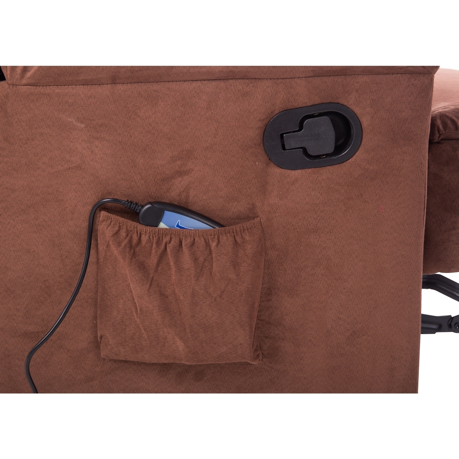 Aosom HomCom Brown Faux Suede Heated Vibrating Massage Re...