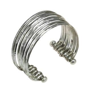Seven Strand Bangles Karen Hilltribe Tribal Silver Cuff Bracelet