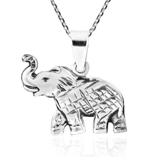 Majestic and Elegant Thai Elephant Sterling Silver Necklace (Thailand) (Option: Sterling Silver)